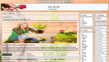 Joomla template for growing flowers, garden, decoration of parks, hobby, leisure time