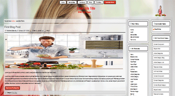 Joomla template for cooking recipes, cooking party, cooking lessons, healthy foods, meal Ideas