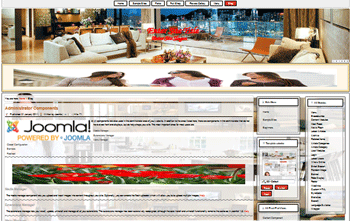 Responsive Joomla templates of theme designing the interior decoration of a room or building