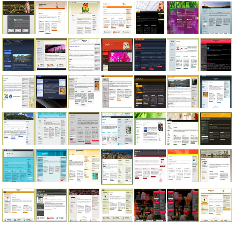 45 templates for Joomla 2.5 / 2.5.28