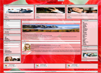 Responsive Joomla 3.x templates  with flower background