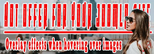 Joomla free module - hover image css effect