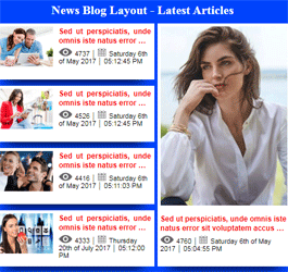 Free Joomla News Module - Blog layout