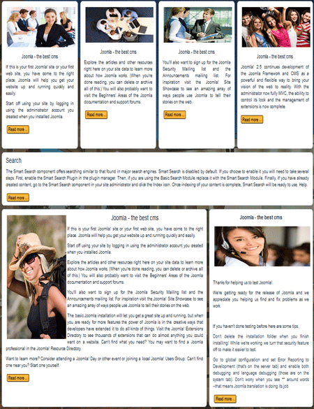Free templates for Joomla articles