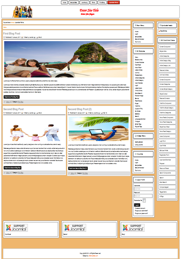 template for Joomla 3.3 & 2.5.x free-responsive layout