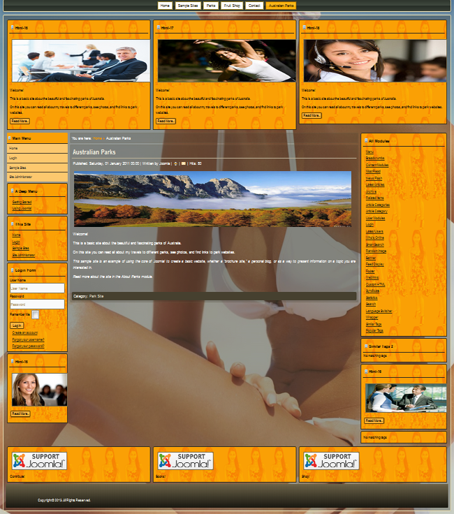 Beautiful Joomla 3.2.x templates. Designed for beach vation, relax