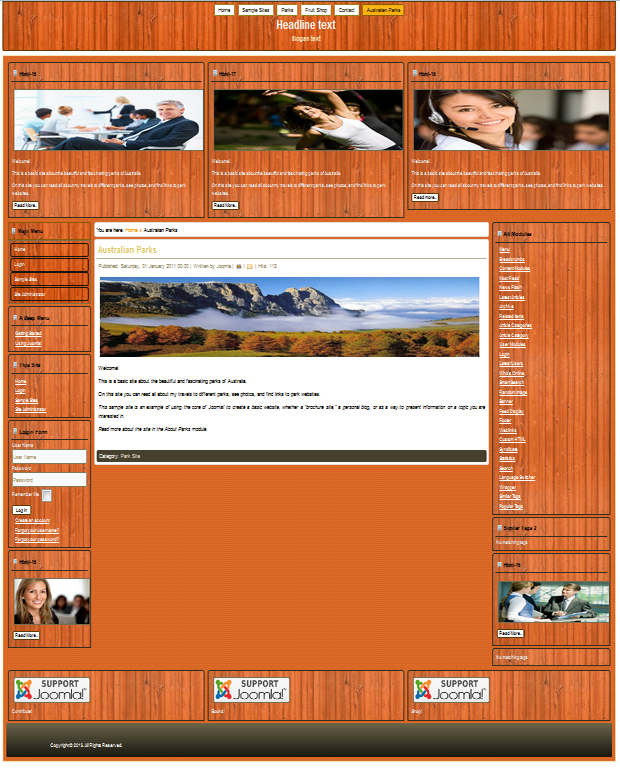 Template compatible: Joomla 2.5&3.0&3.1&3.2