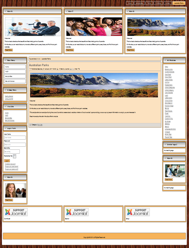 Template compatible: Joomla 2.5&3.0&3.1&3.2&3.3