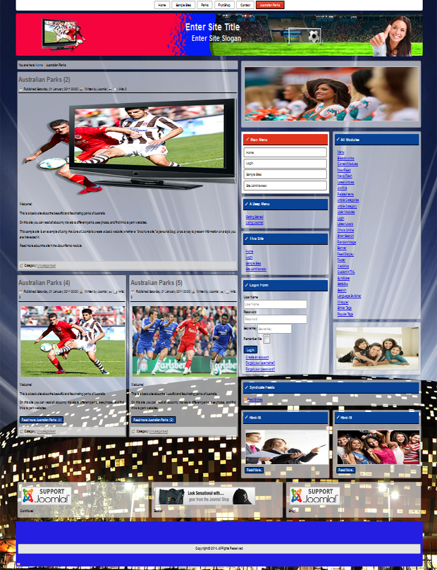 Joomla 3.2.3 templates for soccer
