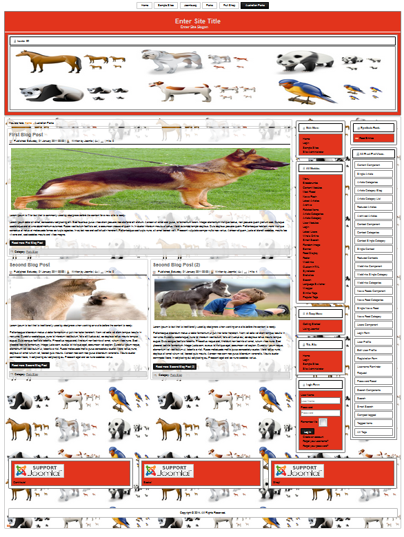 animal templates for joomla 3.3.1