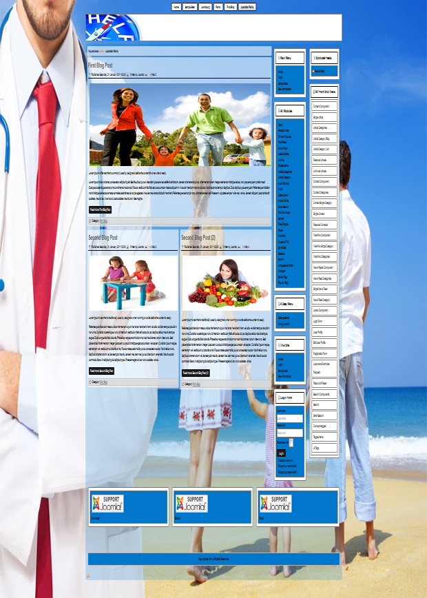 joomla 3.3 templates  for medicine, medical insurance, health