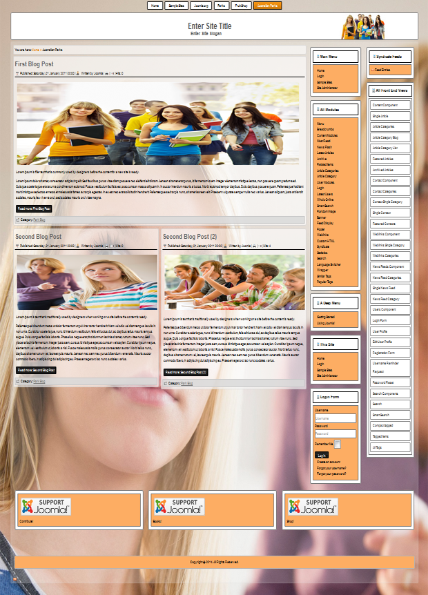 responsive joomla templates for teenagers and students