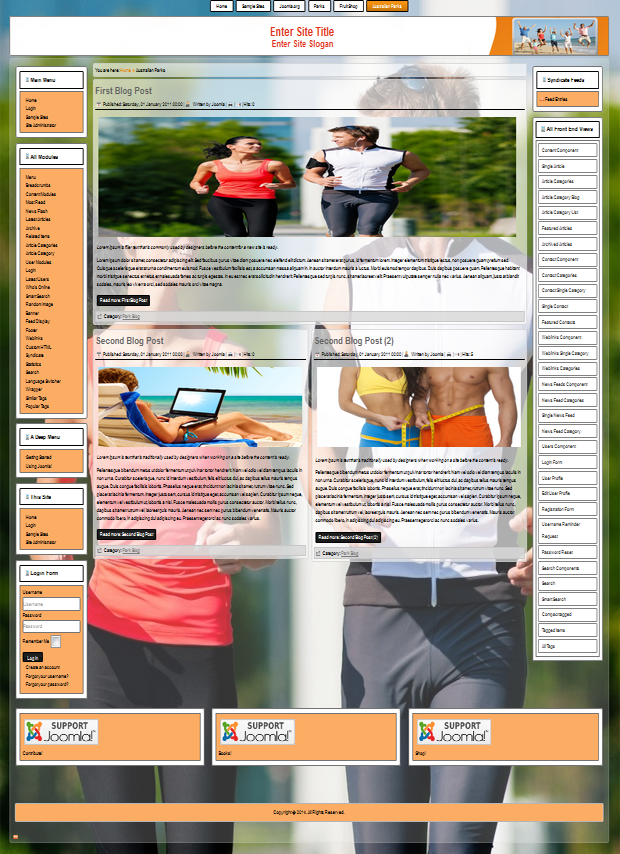 Joomla 3.3 responsive templates for sport and fitness