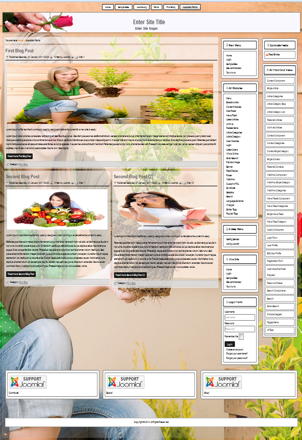 joomla 3.3.3 template for growing flowers and garden