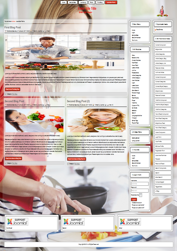 joomla 3.3 template 116 preview