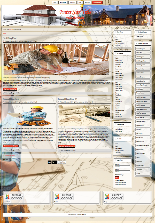 joomla 3.4 templates for website on the topic of design, architecture, construction, repairs, maintenance of buildings