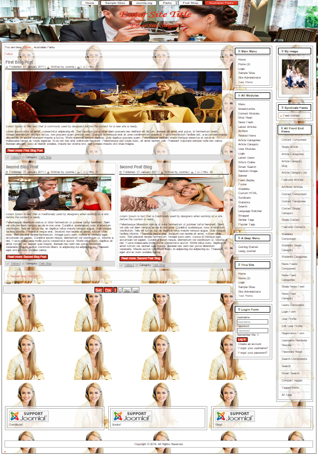 joomla template for hotel and restaurants