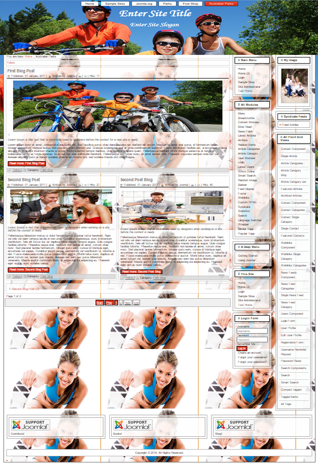 joomla 3.4 template for sport, health, family