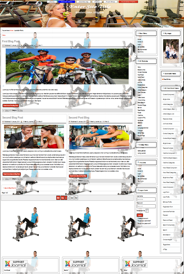 joomla 3.4 template for fitness, sport, health, family