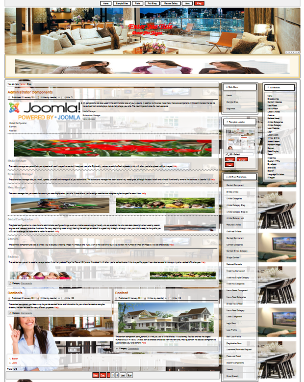 responsive joomla 3.4 template for designing the interior decoration of a room or building