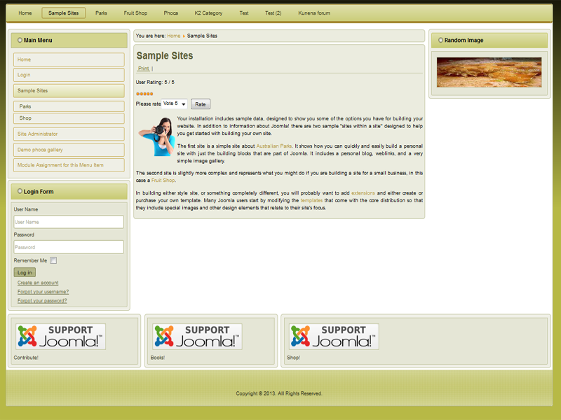 Best Joomla 3.x template