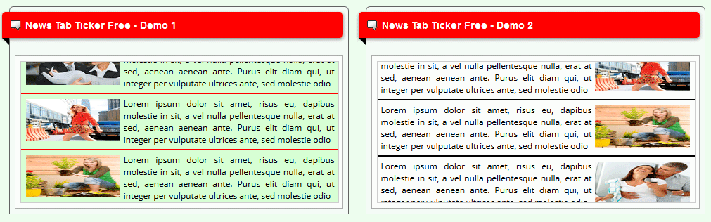Free Joomla module for breaking news tab vertical ticker