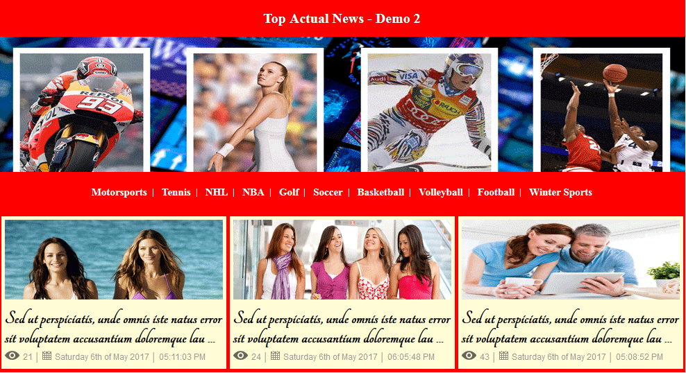 Joomla module for top actual news / latest articles