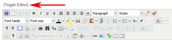Turn of JCE editor in joomla article