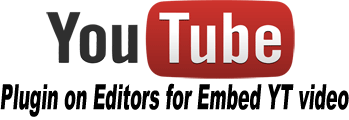 Free editor plugin for embed youtube video in your articles