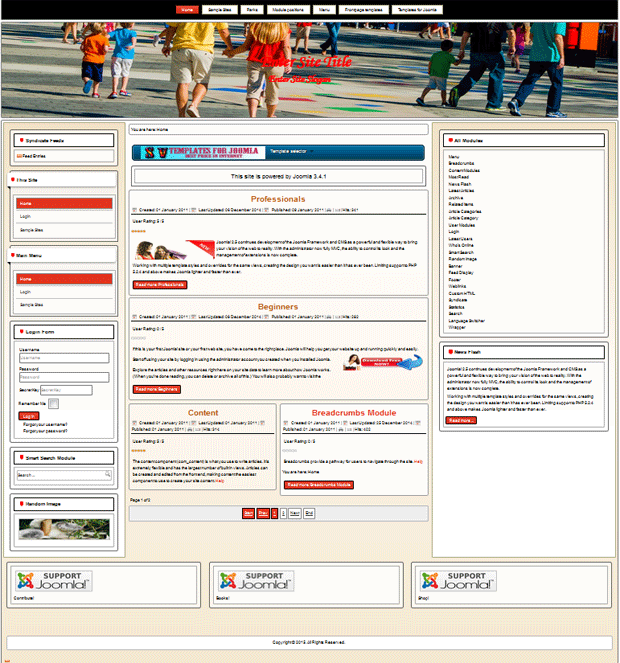 joomla 3.4.2 template for my city portal