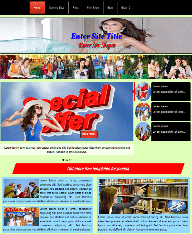 joomla 3.5 template for professional joomla website just using only one multifunctional template