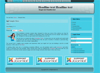 header with headline and slogan with joomla 3 tmplate