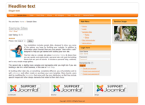 responsive joomla 3.0 template with 32 module positions