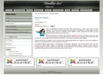 Joomla 3.x template with left sidebar with 3 module positions