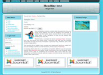 Joomla 3.0 template with responsive design and 3 columns