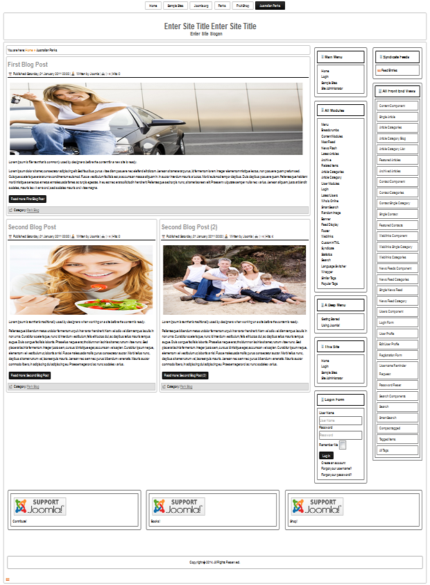 Joomla 3.3 templates for all needs
