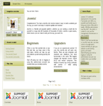 Joomla template with 2 column vertical menu