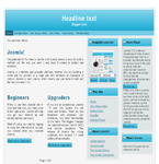 Blue WP theme