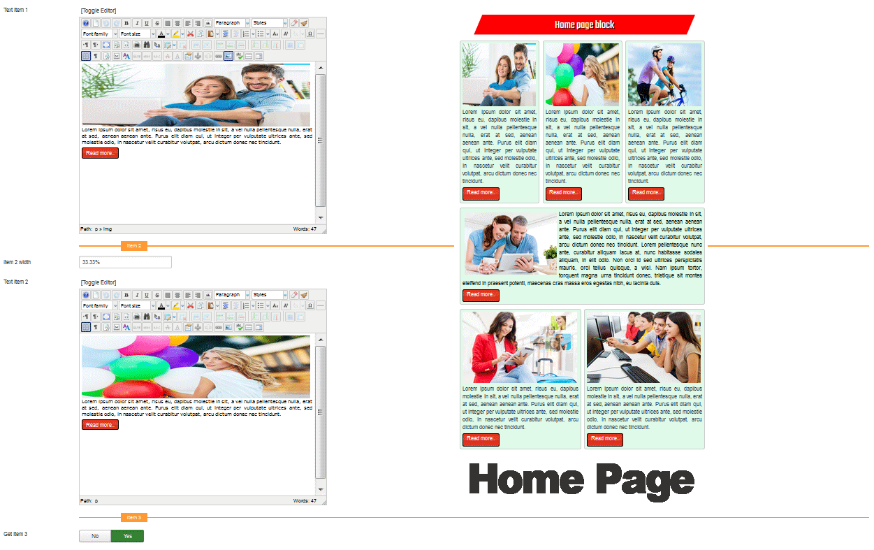 template for joomla 168 with template for joomla 168 with responsive home page block